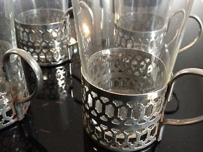 4 Silver plated coffee glasses / mulled wine glasses