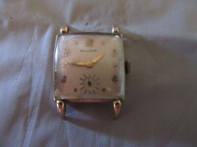 Vtg Bulova  Wrist Watch Rgp (For Parts Only)