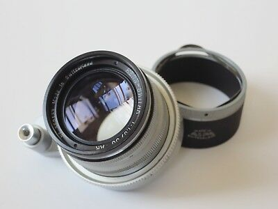 Alpa Kern Switar 50mm f/1.8 AR Lens With Hood Chrome Switzerland EX+