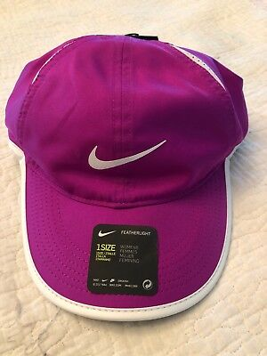 20433bbb38aa51 NWT NIKE COURT Womens Aerobill Feather Light Hat Purple/White ...