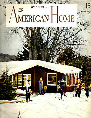 February 1944 The American Home Magazine-Architectural-Great Vintage Ads-Rare