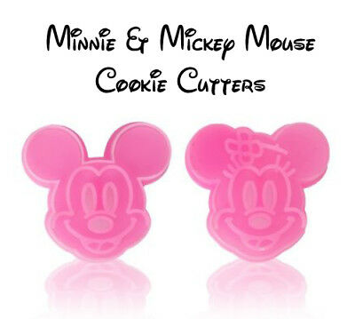 Disney Minnie & Mickey Mouse Cookie Cutter Baking Mould 2pcs - Fast Free Post