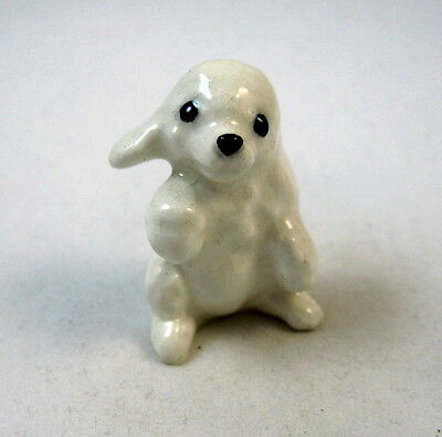Hagen Renaker miniature Made in America Poodle Pup Dog Chubby Retired HTF