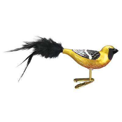 """Hooded Oriole"" (18127)X Old World Christmas Glass Ornament w/OWC Box"