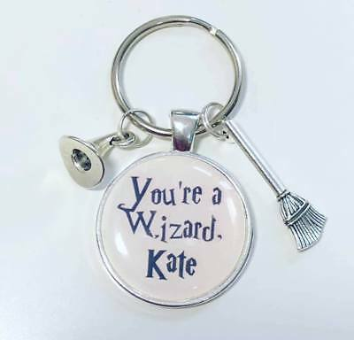 Harry Potter personalised keyring * You're a wizard....... stocking filler