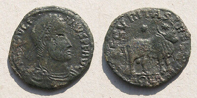 Barbarian Imitation of Julian II Bull - RARE Ancient Roman AE1 Follis