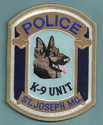 Saint Joseph Missouri Police K-9 Unit Patch