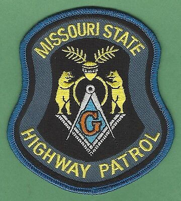 Missouri State Highway Patrol Police Masonic Lodge Patch