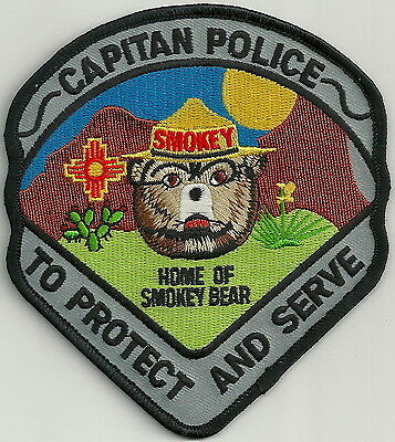 Capitan New Mexico Police Patch Home Of Smokey The Bear