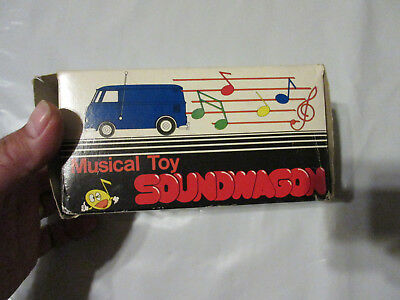 Rare Vintage 1970's TAMCO SOUNDWAGON VW Bus Musical Toy Record Player