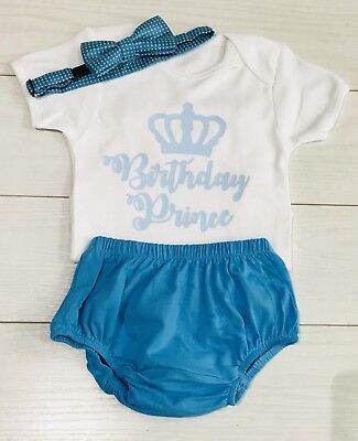 Luxury Baby Boys 1st First Birthday Vest Shorts Bow Tie Cake Smash Outfit Blue