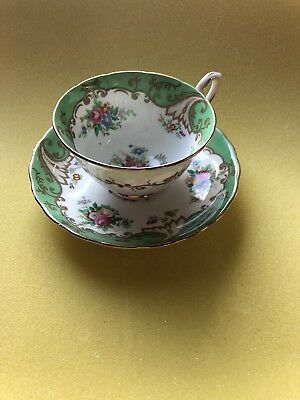 Vintage Tuscan Fine Bone China England Hand Painted Tea Cup Saucer #15814