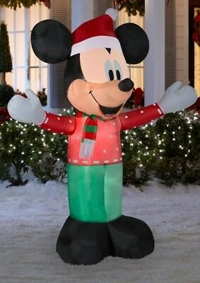 disney mickey mouse lighted christmas inflatable outdoor yard decoration 6 feet - Disney Christmas Yard Decorations