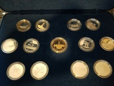 1992 Canada 125th Anniversary Silver Proof 12 Quarter Set with Loon
