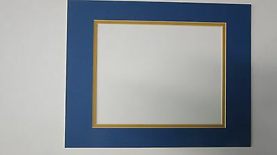 Picture Framing Mats 11x14 Diploma Photo Mat For 8x10 Dark Blue Gold