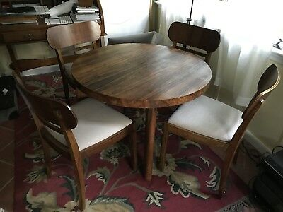 Vintage 1960 Ies Round Table And 4 Chairs