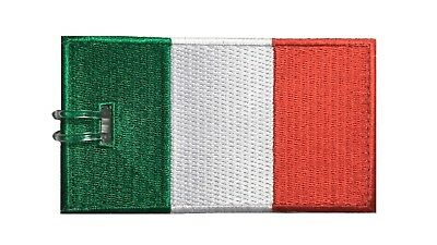 Italy Flag Embroidered Luggage Tag (NEVER BREAKS!)