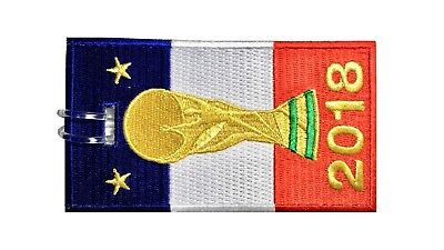 France Flag With World Cup Embroidered Luggage Tag (NEVER BREAKS!)