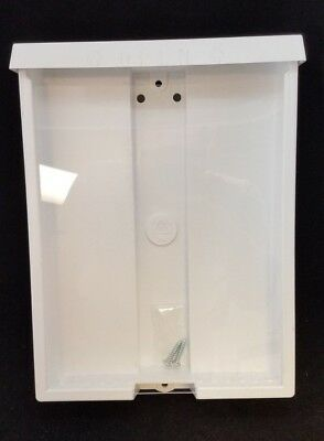 White Real Estate Brochure Flyer Box Hard Plastic for Mounting on Wall Sign Post