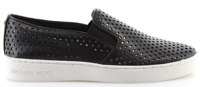 Michael Kors Keaton slip on lasereds Lasered Sneakers Ultra Pink and Black