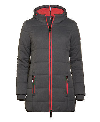Superdry Mujer Chaqueta Tall Sport Puffer Gris Marga