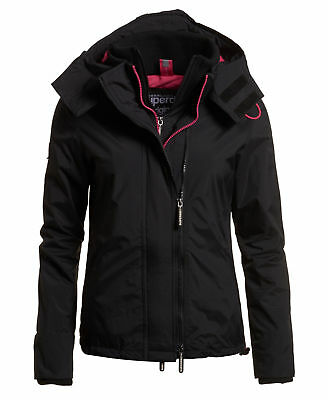 Superdry Mujer Chaqueta con capuchaArctic SD-Windcheater Negro