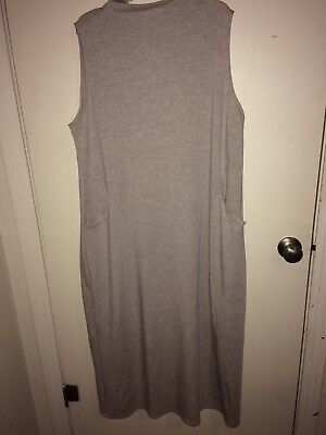3860842fe988 J.Jill Maxi Dress Size XL Womens Pure Jill Mock Neck Luxe Tencel Long  Oatmeal