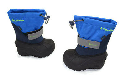 """NEW BOYS COLUMBIA """"Toddler Twin Tundra"""" winter snow boots Size 6 Blue 1724223"""