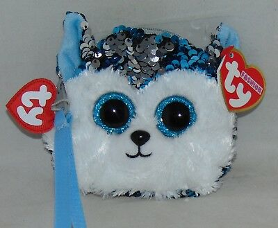 TY Beanie Boos FASHION GEAR Color Changing Sequins COCONUT Wristlet//Coin purse