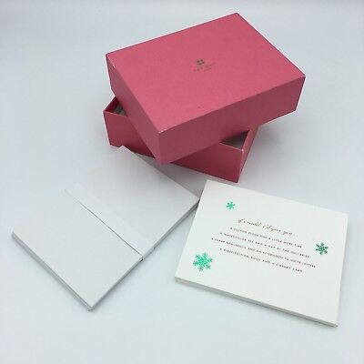 Kate Spade NY Holiday Christmas Cards Green Foil Snowflakes Envelopes 10 Count