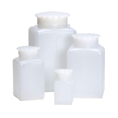 AZLON BGE342P Square Bottle, Plastic, Wide Mouth, 2000 ml (Pack of 5)