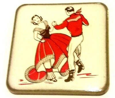 """Rare & Vintage! MEXICAN HAT DANCE Jarabe Tapatio 2.5"""" Ceramic Tile! FREE S/H!"""