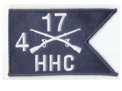 """5"""" X 3"""" HHC Company, 4th Battalion, 17th Infantry Reg Hook & Loop Guidon Patch"""