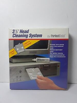 """PerfectData 3 1/2"""" Floppy Disk Head Cleaning System - New Sealed"""