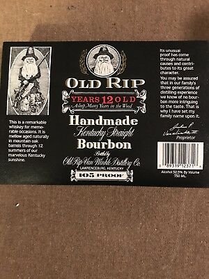 Pappy Van Winkle 12 Year Old Bourbon Vintage Mint Condition Labels