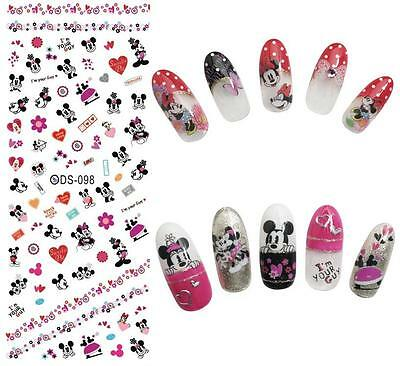 BLE HOT DS MINNIE TOPOLINO DAISY adesivi unghie Stickers water nail art decals