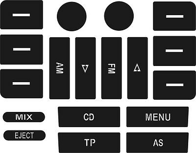 Set of Stickers to repair the buttons on your VW Golf MK5 / Passat CD player