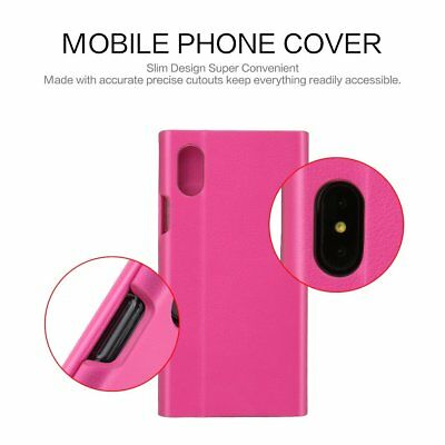 Ultra Slim Mobile Phone Case Premium Soft PU leather Fr iPhone X Precise Size NP