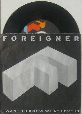 """Foreigner  i want to know what love is / street thunder , 7"""" 45"""
