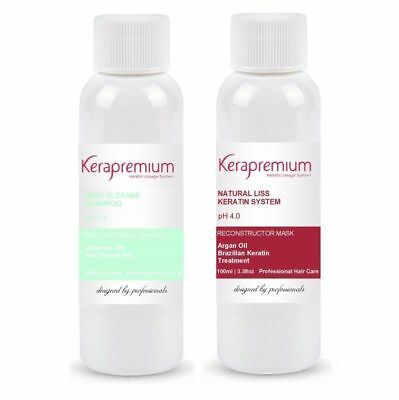 Natural Brazilian Keratin Treatment Blow Dry Anti Frizz Formaldehyde Free 200Ml