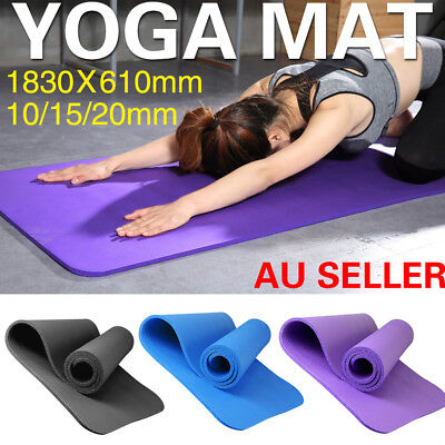 10/15/20MM Thick Yoga Mat Non-slip Durable Exercise Fitness Pilate Gym Mat Pad