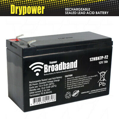 Drypower BROADBAND 12V 7Ah Sealed Lead Acid Battery for NBN Power Supply backup