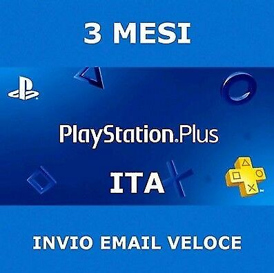 PS Plus PlayStation Plus 3 mesi 2€!!! PS4