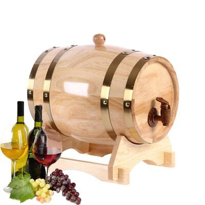 Pine Natural Wooden Color Oak Wine Barrel For Fine Wine Brandy Whiskey 1.5/3/5L