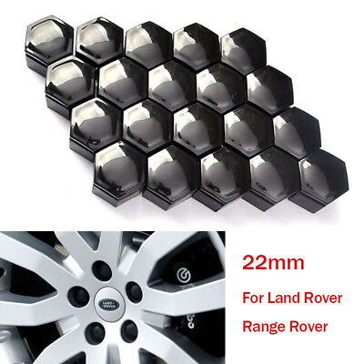 22mm Black Bolt Cover Caps Wheel Nut Protector for Land Rover VAUXHALL Insignia