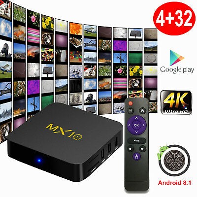 MX10 4K Smart TV BOX RK3328 Android 8.1 Quad Core 4+32GB Media Player 2.4G WIFI