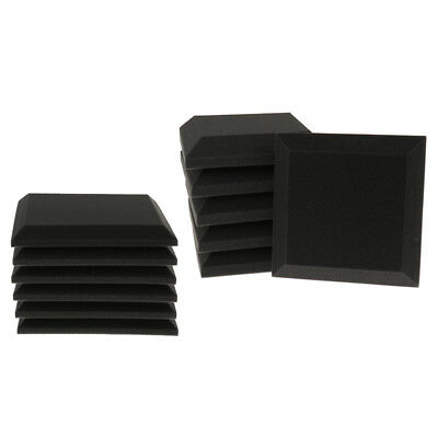 6 Pack Acoustic Foam Panel Wedge Soundproofing Wall Tiles Sound Panel Pads