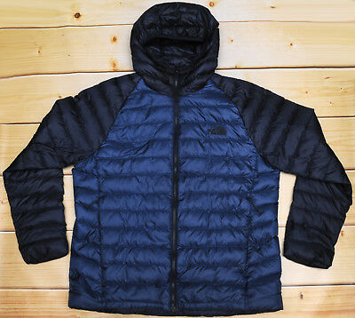 d387bc986 THE NORTH FACE TREVAIL HOODIE - 800 DOWN insulated MEN'S BLUE PUFFER JACKET  - XL