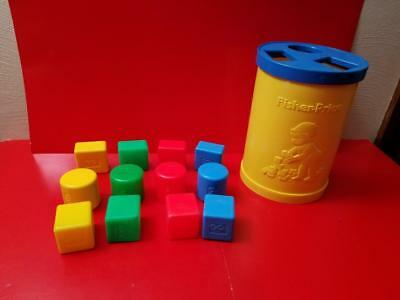 Vintage Fisher Price #414 Baby's First Blocks Shape Sorter Good Used