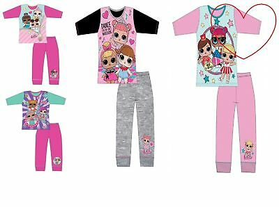 Girls Lol Surprise Dolls Pyjamas Kids Pjs Set Gift Character